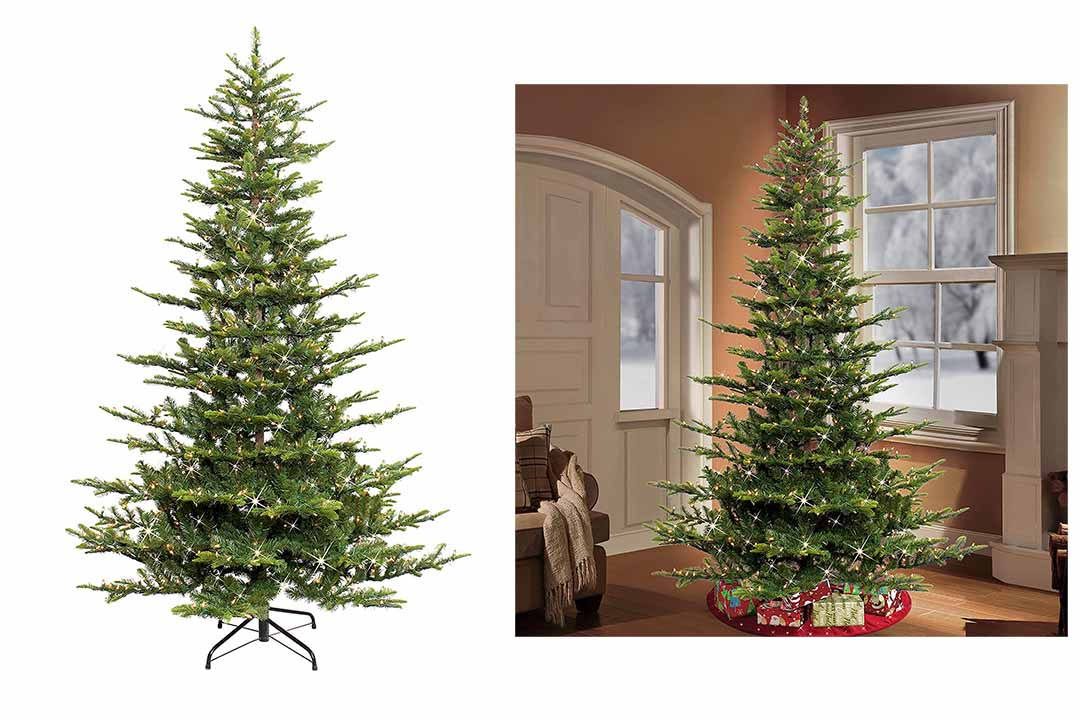 Puleo International 6.5 Ft Pre-Lit Aspen Artificial Christmas Tree