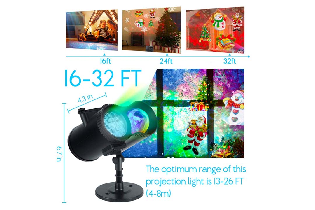 WOSTOO 2-In1 Decoration Water Wave Projector Light