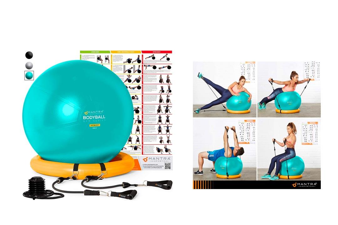 Yoga Fitness Pilates Ball & Stability Base