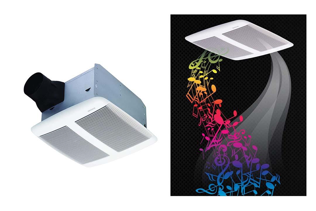 Broan Sensonic Bathroom Exhaust Fan with Bluetooth Speaker