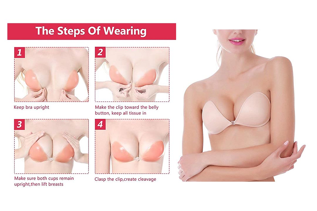 MITALOO Push Up Strapless Self Adhesive Plunge Bra