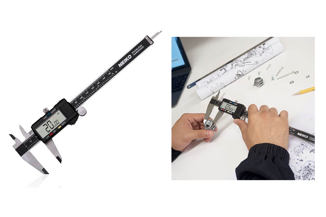 MOOCK Digital Caliper, Durable 6inch/150mm Stainless Steel Electronic Measuring Tool Vernier Calipers