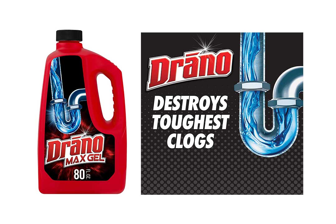 Drano Max Gel Drain Clog Remover and Cleaner for Shower