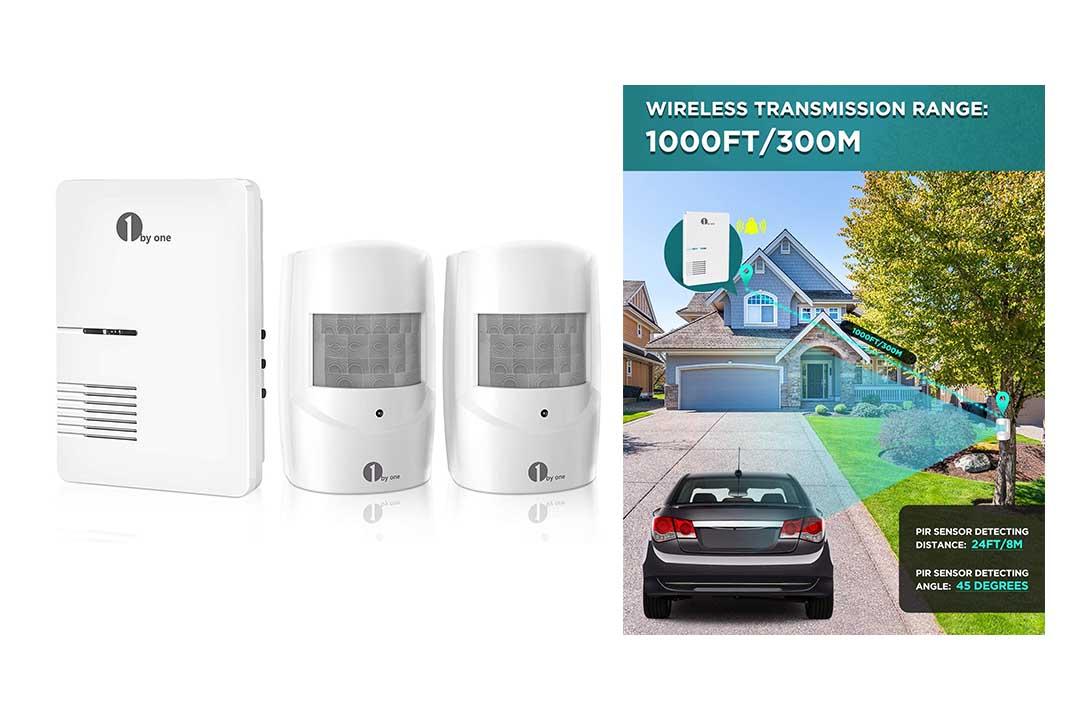 Driveway Alarm, 1byone Motion Sensor 1000ft