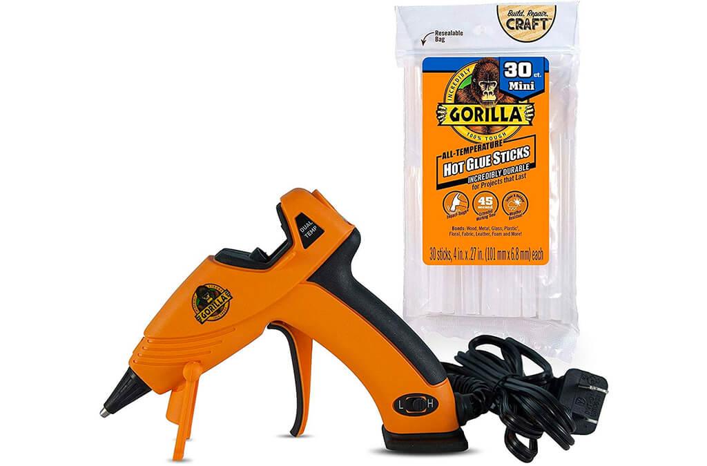 5. Gorilla Dual Temp Mini Hot Glue Gun Kit